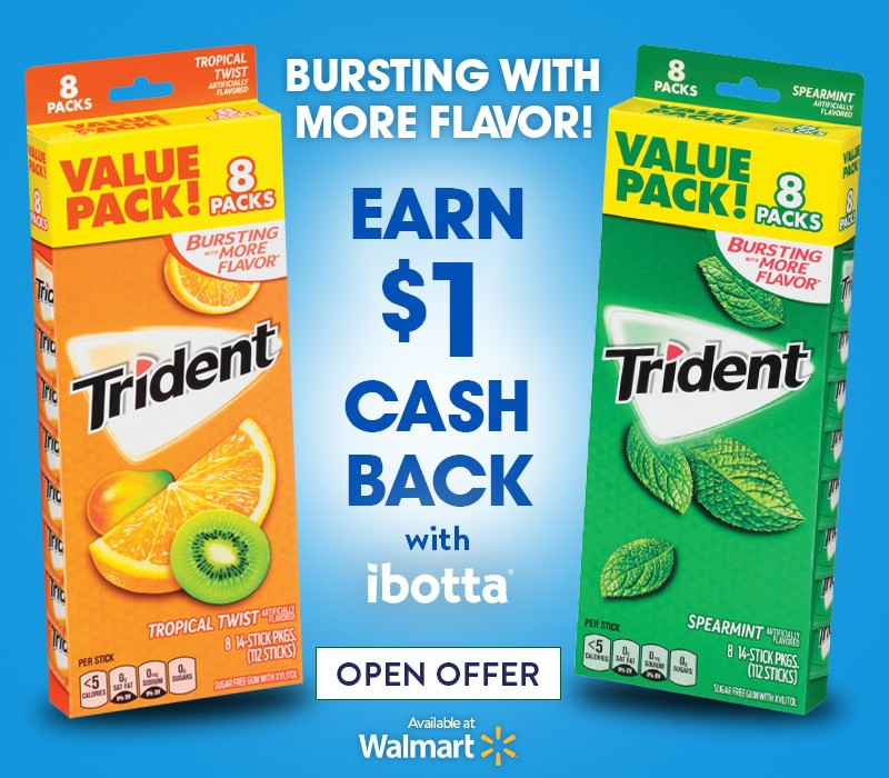 Save money and freshen up, trident ibotta deal, coupon for trident, trident at walmart, freshen up on the go, on the go freshen up kit, how to freshen up on the go