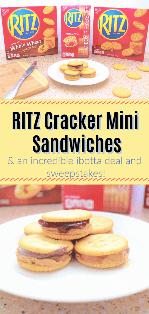 #RITZSavings #AD #IC RITZ Cracker mini sandwiches, RITZ Cracker recipes, Easy school snack idea, peanut butter and honey on crackers, peanut butter and nutella on crackers, peanut butter and jelly on crackers, mini sandwiches, kid lunch snacks, kid snack ideas
