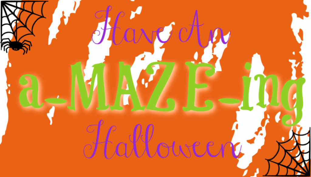 a-maze-ing halloween handouts, maze halloween printable, maze printable ideas for parties, halloween party printables, halloween school party treats, non candy halloween handouts, teal pumpkin ideas