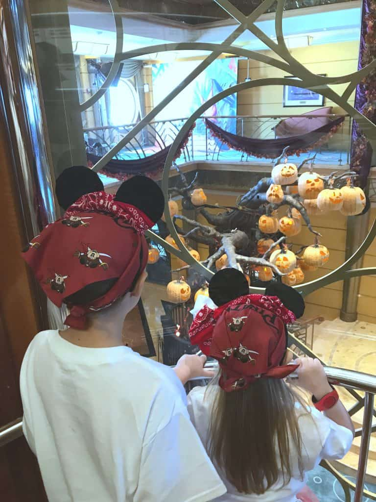 Halloween on the High Seas, Disney Cruise Halloween, Disney's Halloween on the High Seas Cruise, Halloween Cruise on Disney, Mickey's Mouse-Querade Party, Events on the Halloween Disney Cruise, Disney Cruise Line pumpkin tree