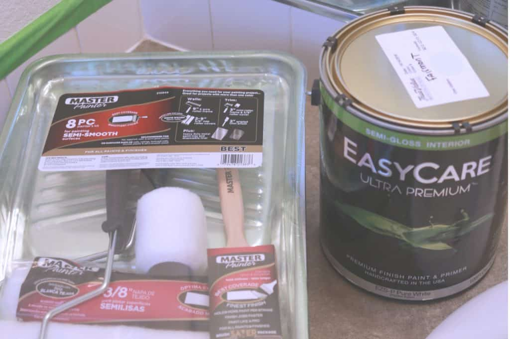 True Value EasyCare Ultra Premium Paint, Woodland bathroom makeover, simple bathroom makeover, allergy friendly paint, asthma friendly paint, asthma and allergy certified paint, paint with low VOC's, best paint for pregnant women