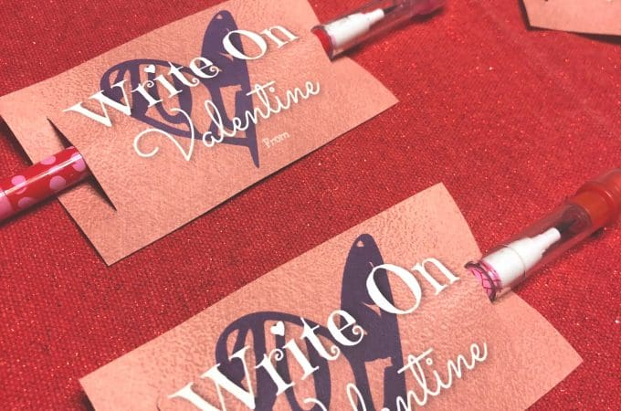 """Write On"" Valentine with Free Printable & Tutorial!"