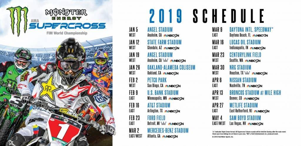 Supercross World Championships Denver, Supercross World Championships Schedule