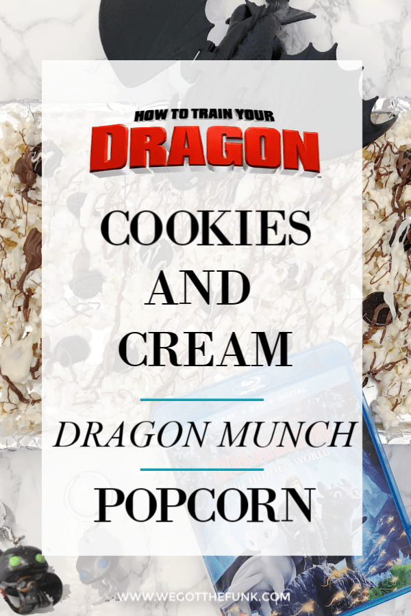 Cookies and Cream Dragon Munch Popcorn