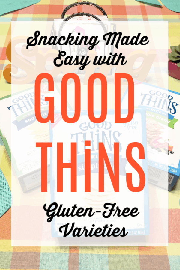 snacking made easy with GOOD THiNS gluten-free