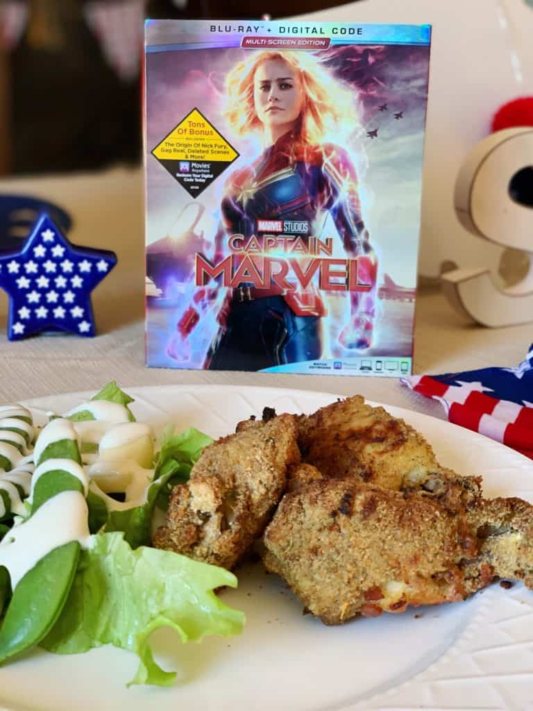 Crack Chicken Wings and Captain Marvel