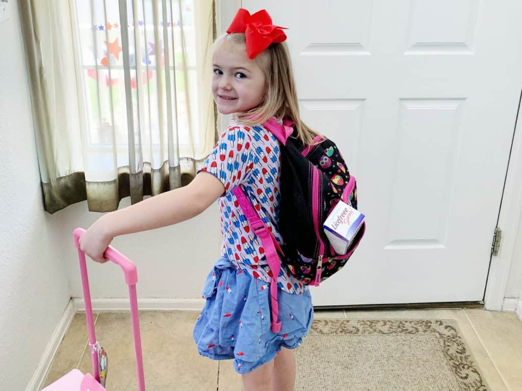 Child Packed for Summer Camp