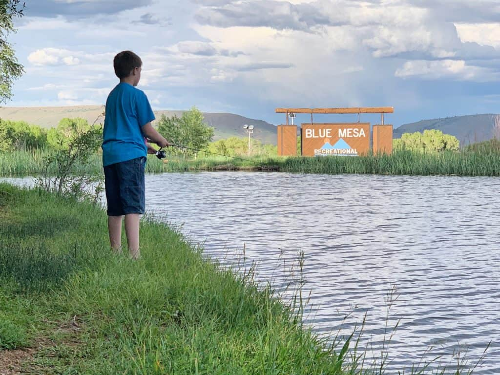 Kid Fishing at Blue Mesa Recreational ranch