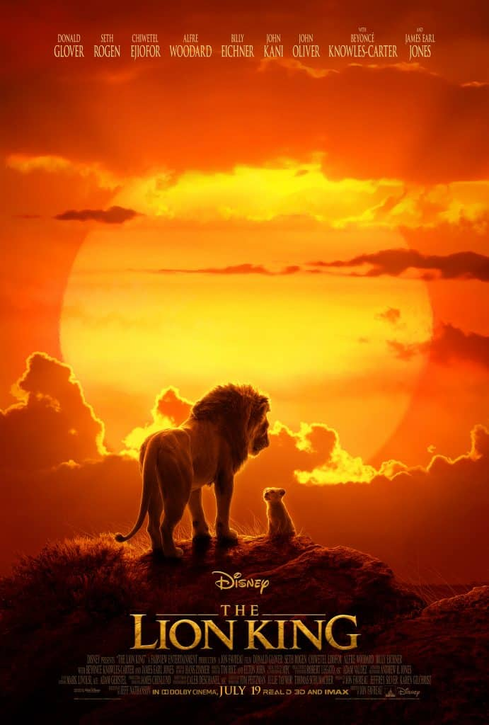 live action Lion King Movie Poster