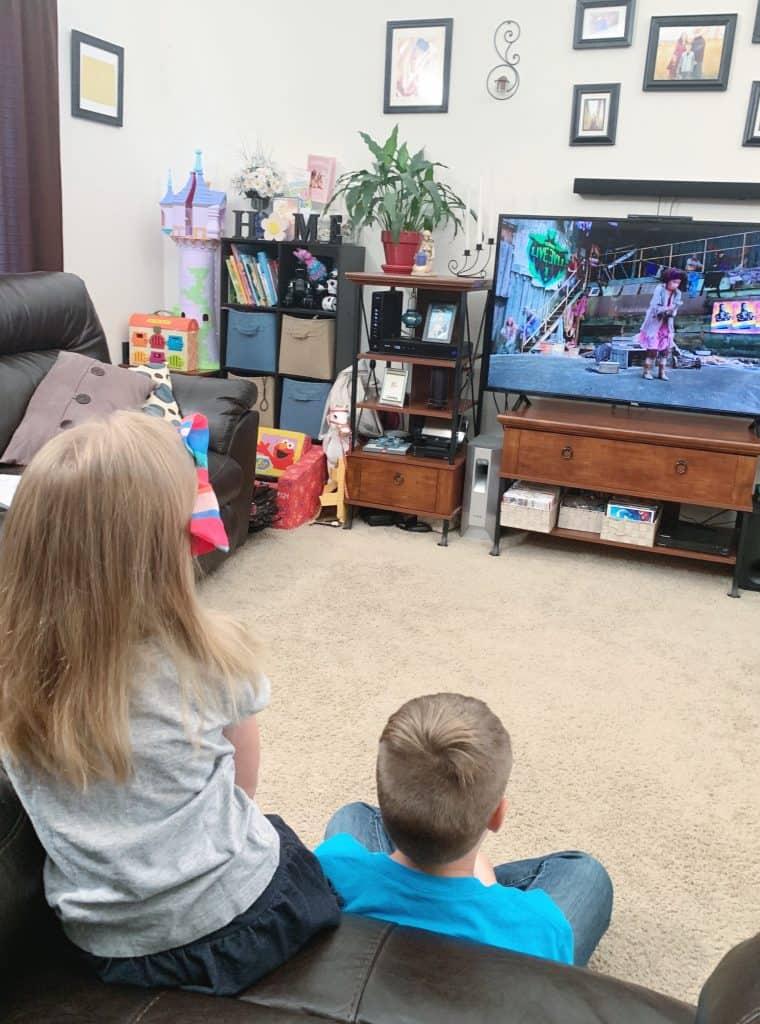 Kids watching Descendants 3