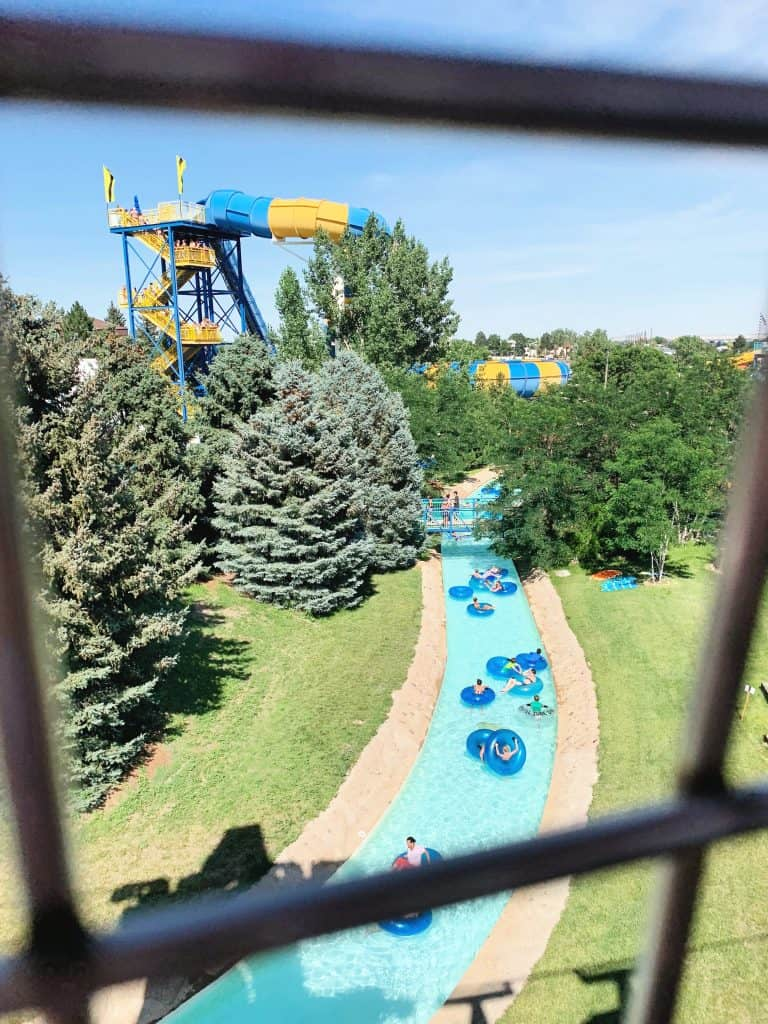 View of lazy river from above