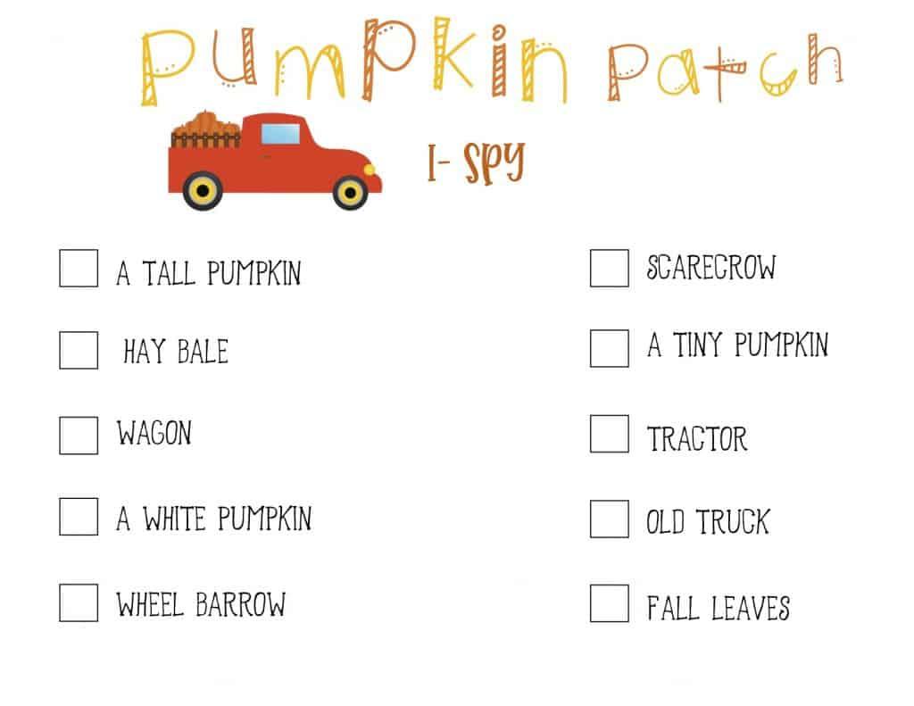 Pumpkin Patch I-Spy