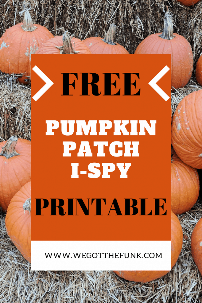 Free Pumpkin Patch I-Spy Printable