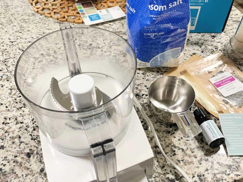 Making bath salts