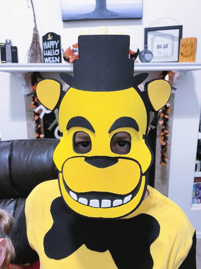 DIY Golden Freddy Foam Mask
