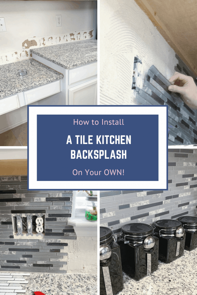 How to install a tile kitchen backsplash on your own