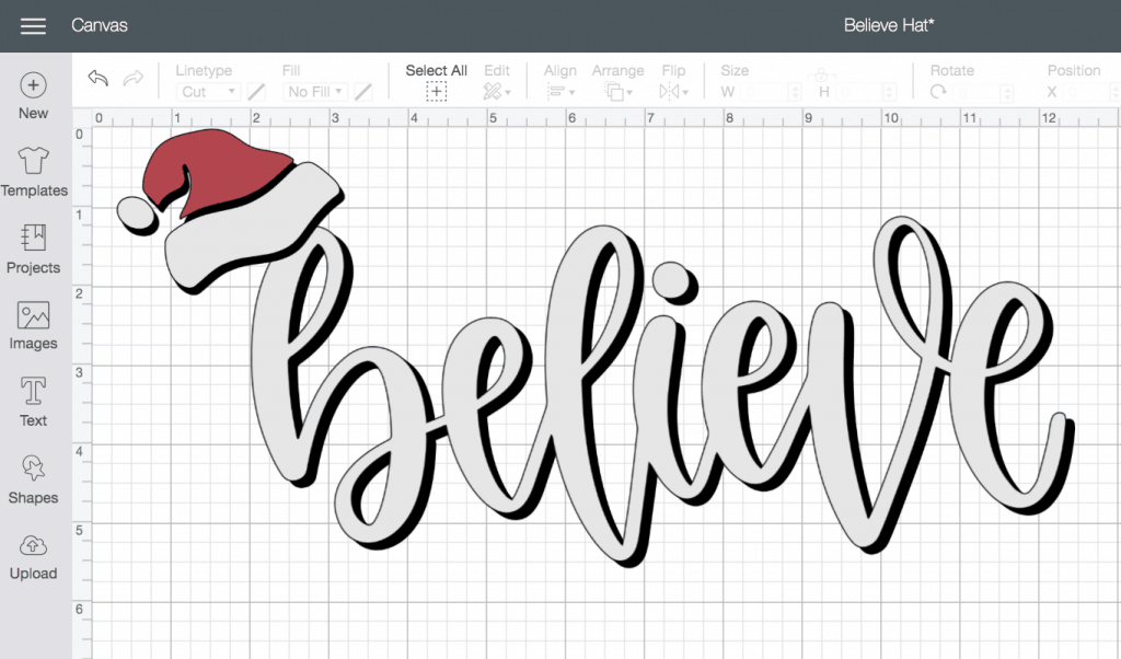 Believe Santa SVG