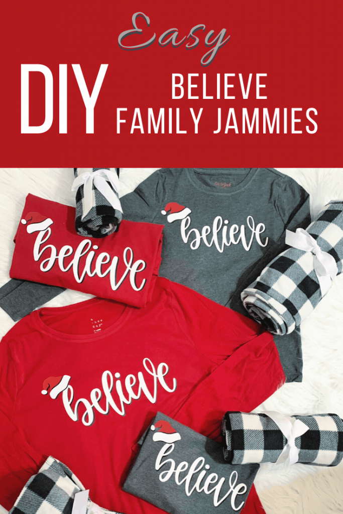Easy DIY Believe Family Jammies