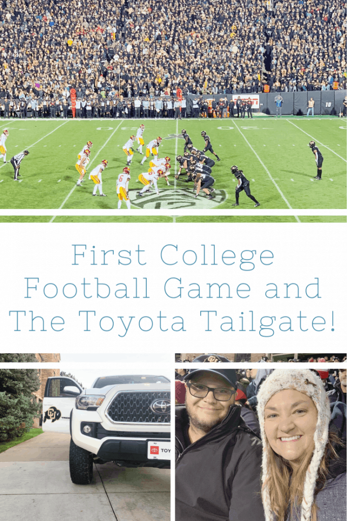 My First College Football Game and The Toyota Tailgate