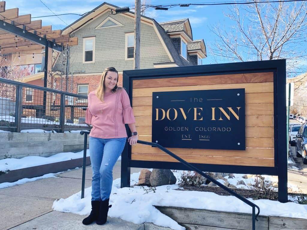 The Dove Inn Sign