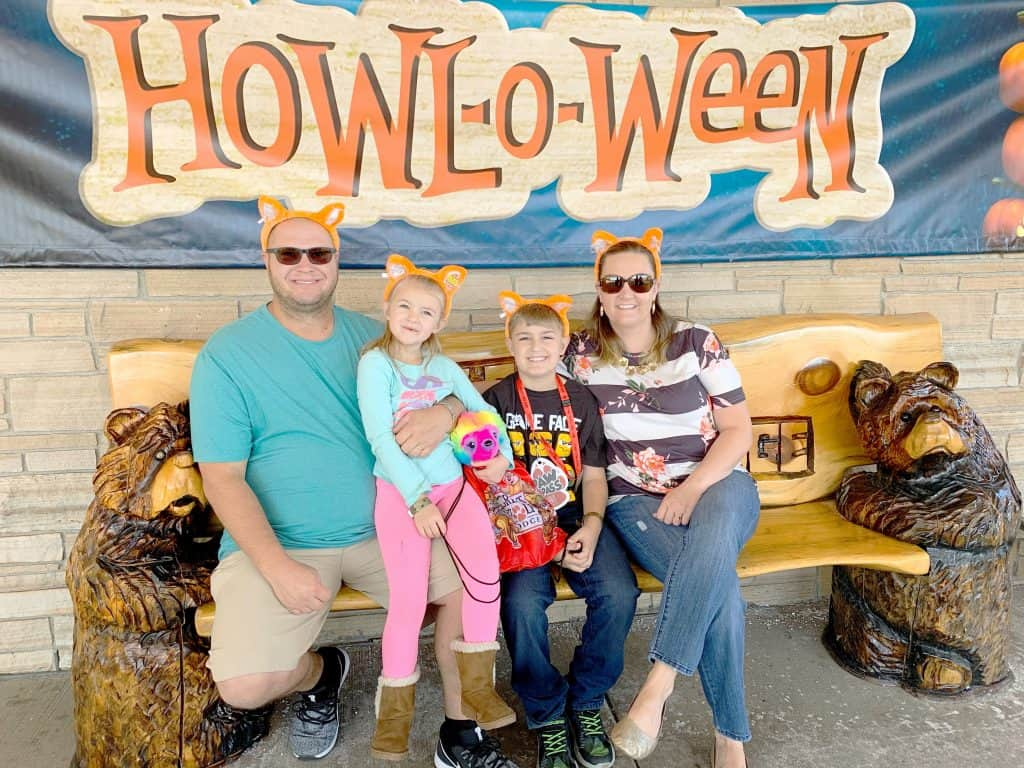 Family at Howl-O-Ween Great Wolf Lodge