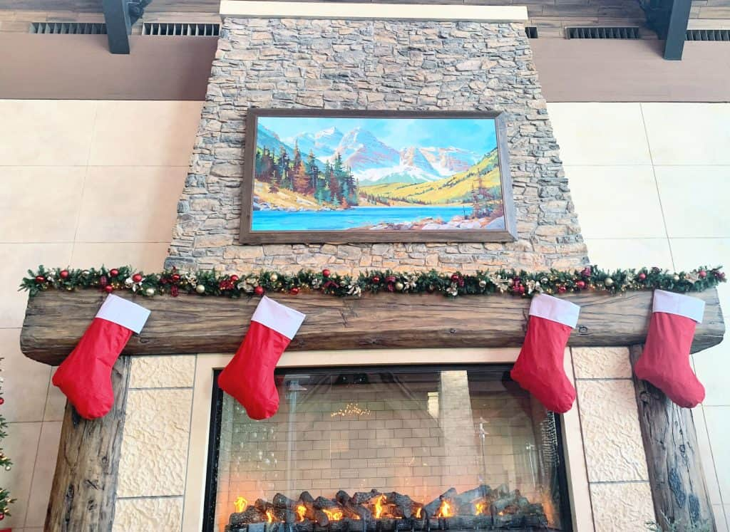 Fireplace at gaylord rockies