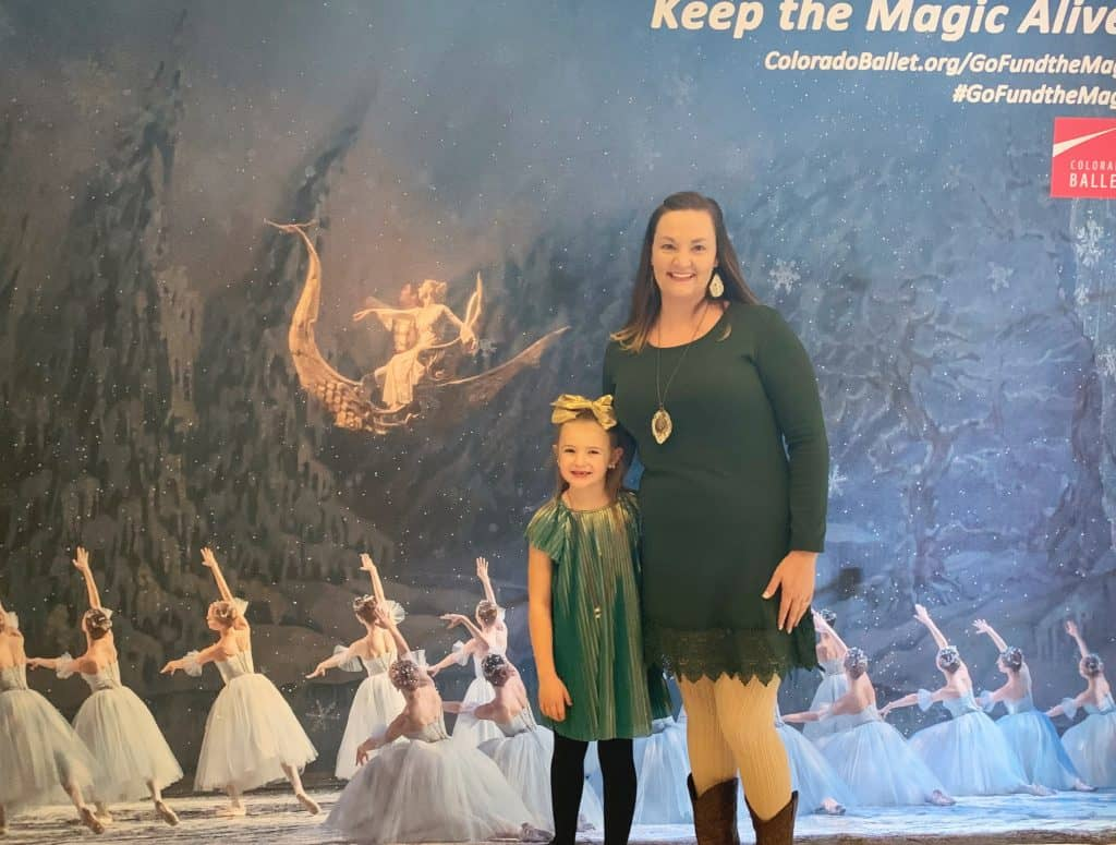 Mother Daughter at The Nutcracker