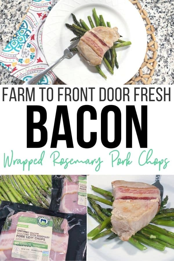 Bacon Wrapped Rosemary Pork Chops