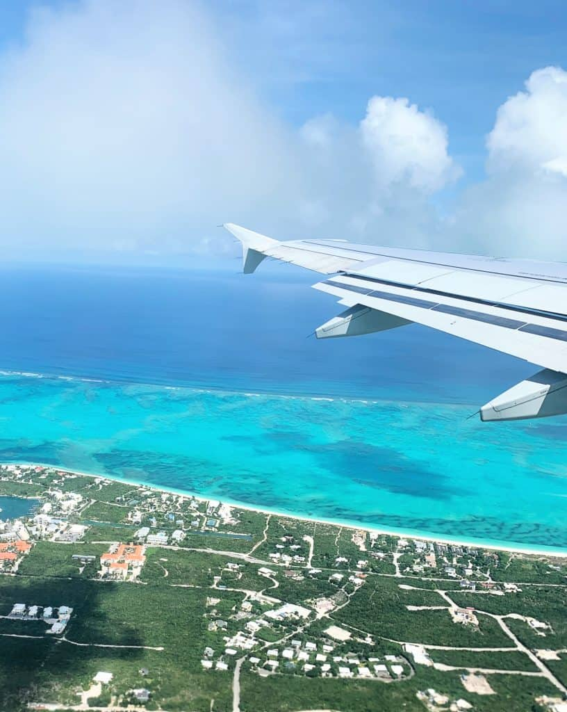 Flying into Turks & Caicos