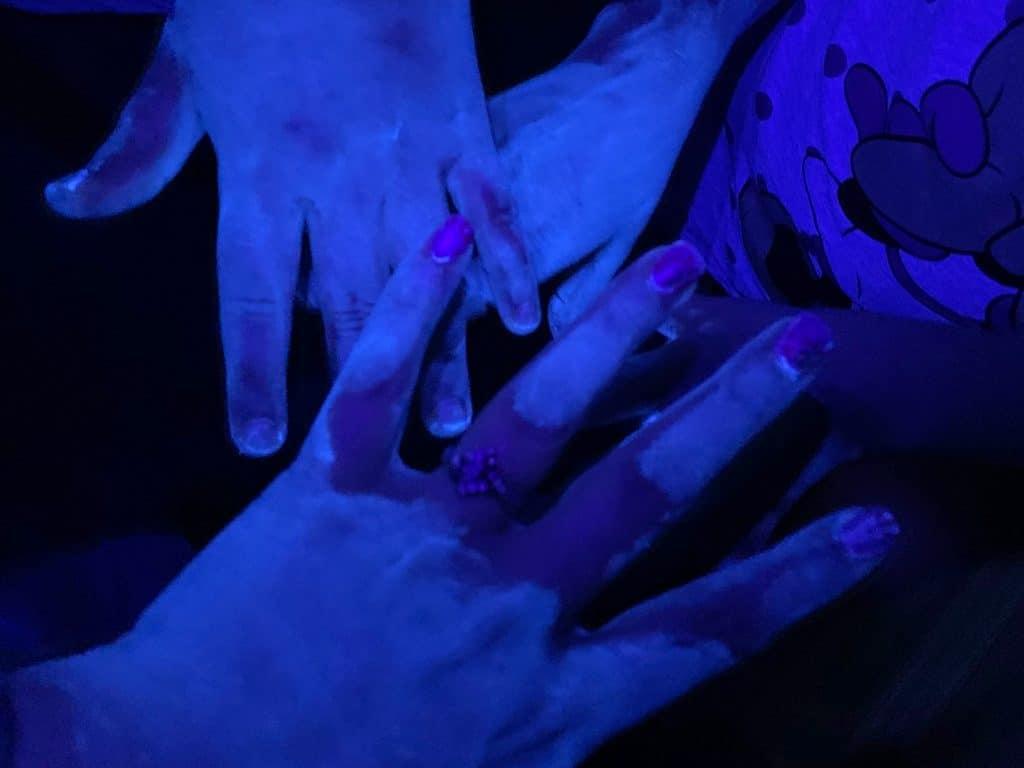 glowing germ hands