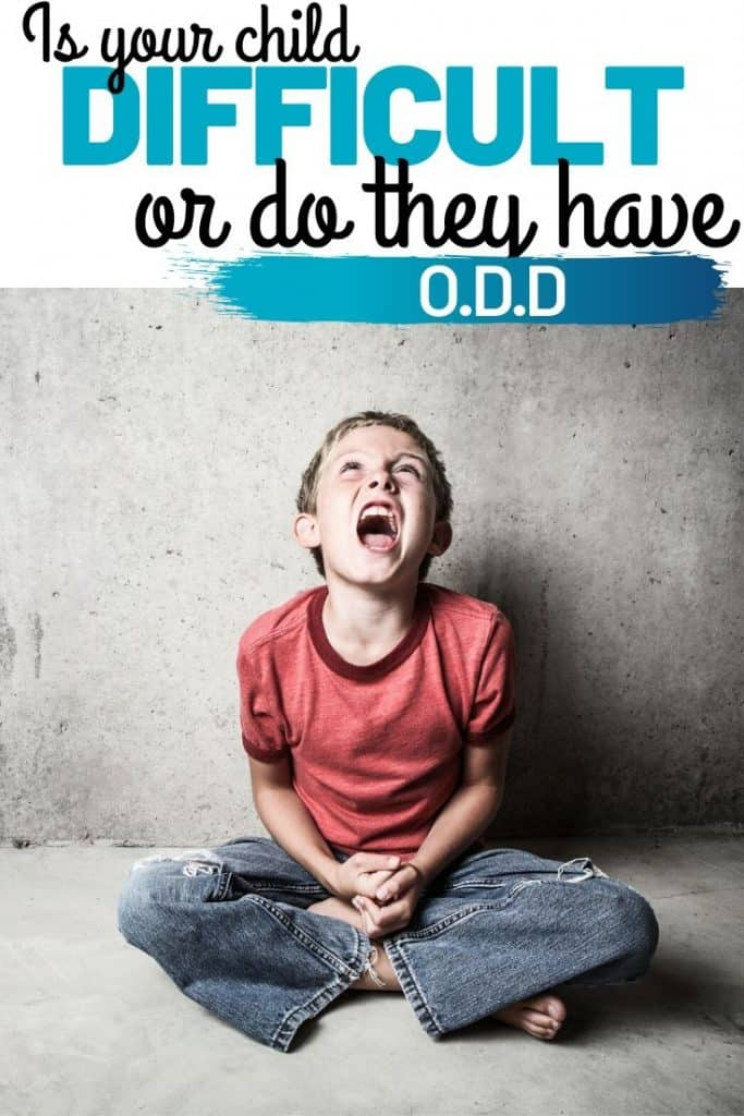Is your Child difficult or do they have O.D.D.