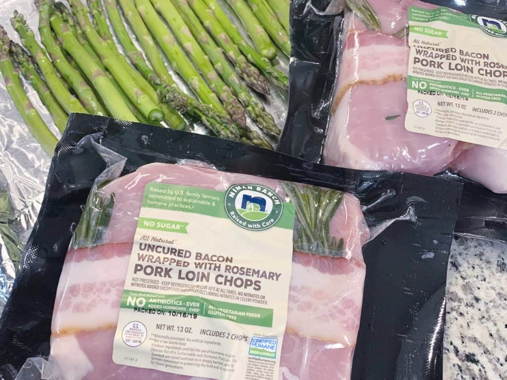Niman Ranch Bacon Wrapped Rosemary Pork Chops