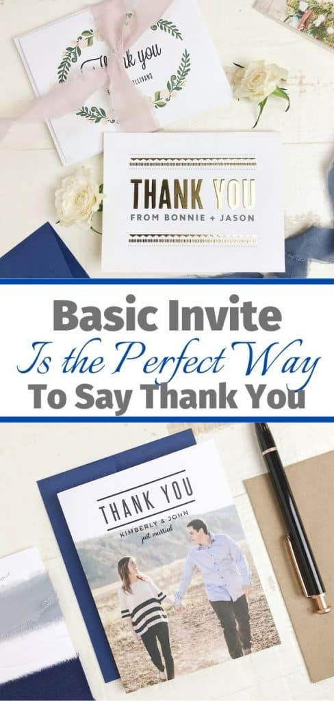 Basic Invite Is the Perfect Way to Say Thank You
