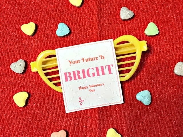 Your future is bright sunglasses valentine