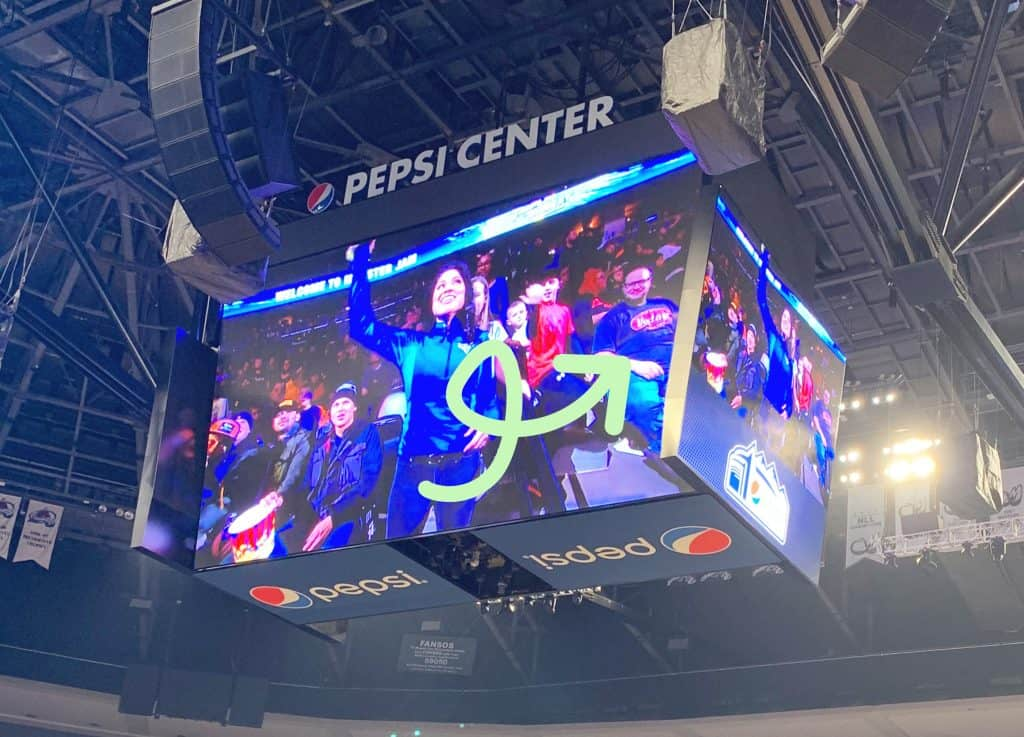 Pepsi Center Jumbotron