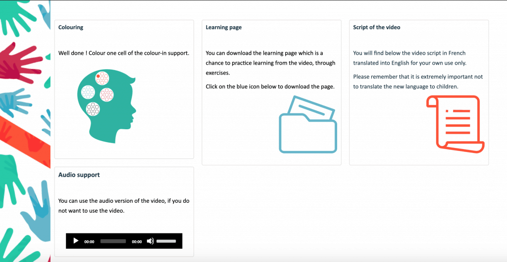 Kokoro Lingua support materials