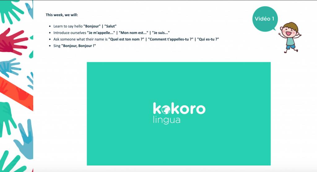 Kokoro Lingua for children