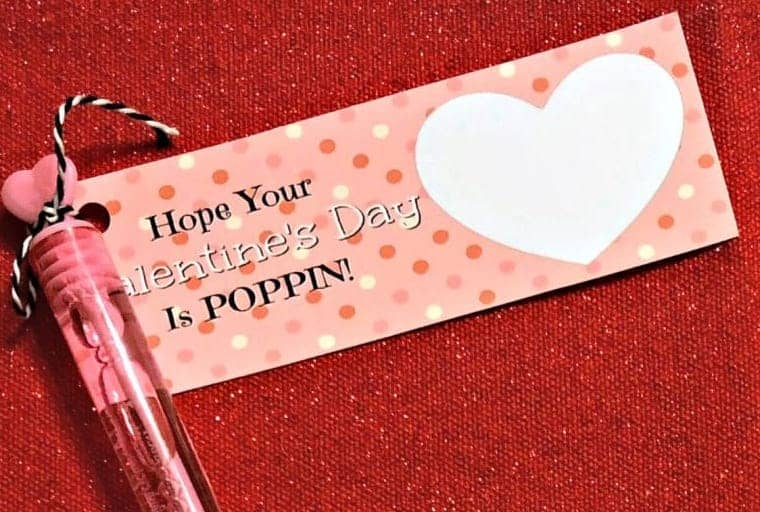 Hope your valentines is poppin' bubble valentine