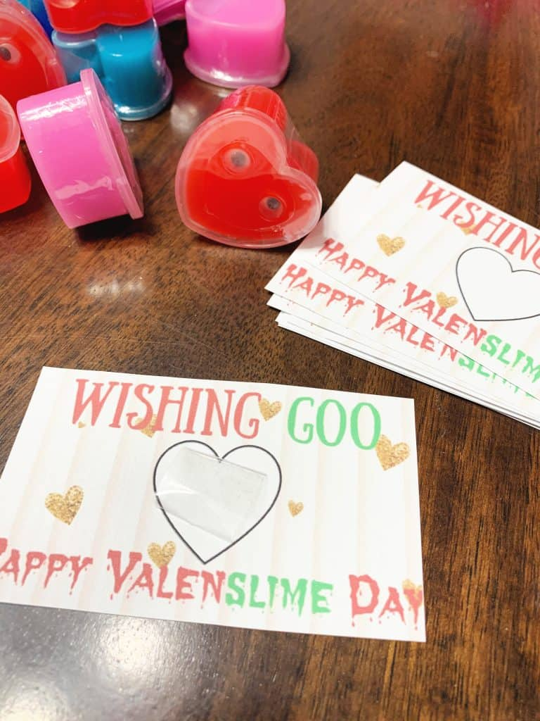 how to make a slime valentine