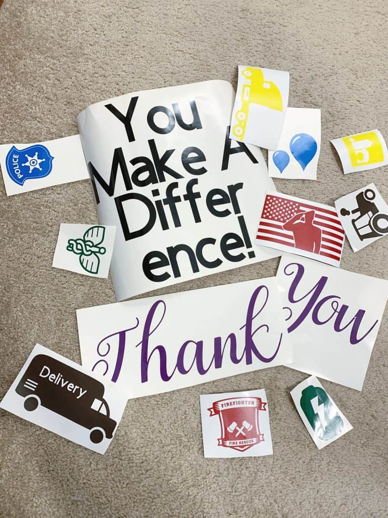 Easy Diy Thank You Sign For Essential Workers We Got The