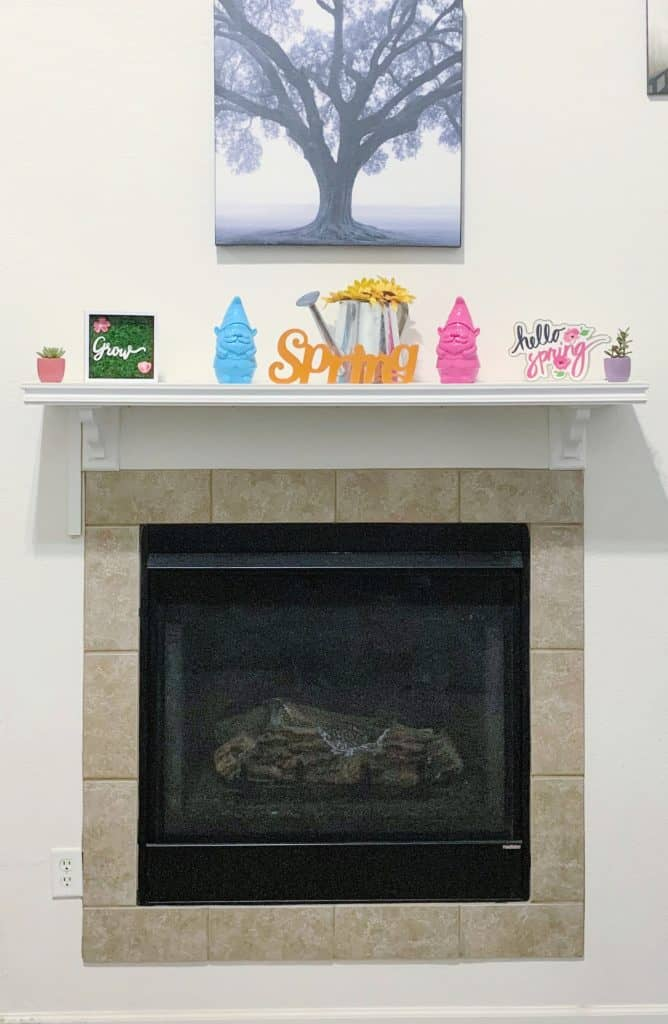 Builders plain fireplace
