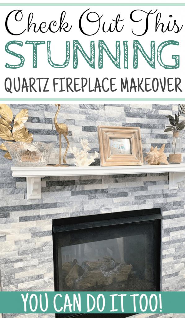 Stunning Quartz Fireplace Makeover