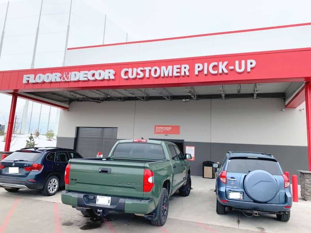 Customer Pick up at floor and decor