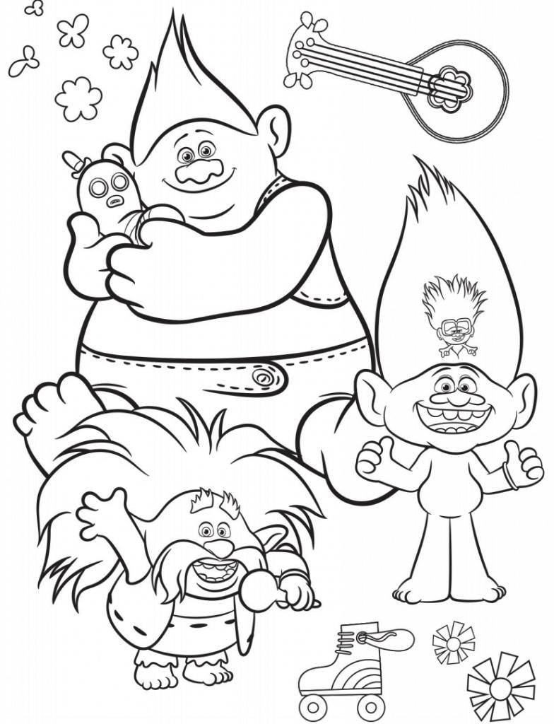 Trolls 2 coloring sheet