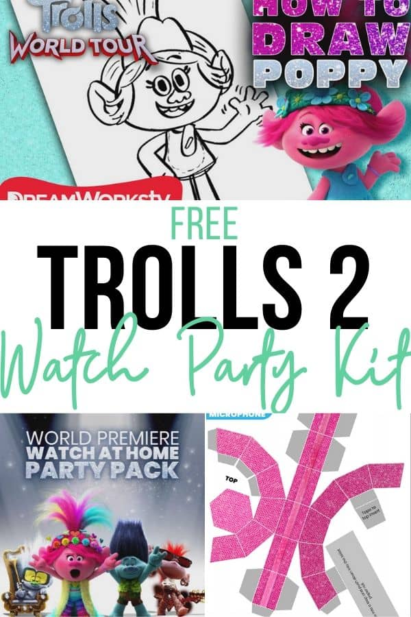 Free Trolls 2 Party Kit