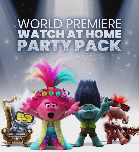 Trolls 2 home movie watch party kit
