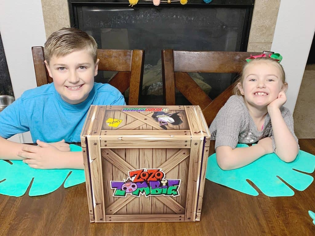 Kids with Zo Zo Zombie Box