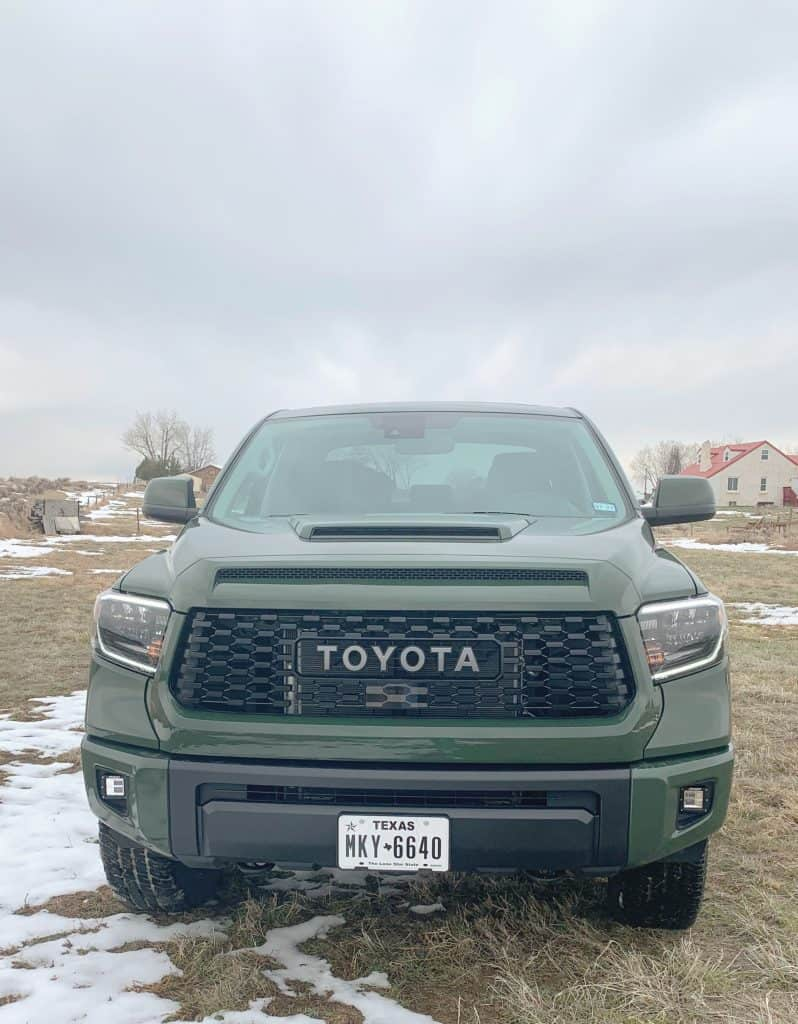 Front of 2020 Toyota Tundra
