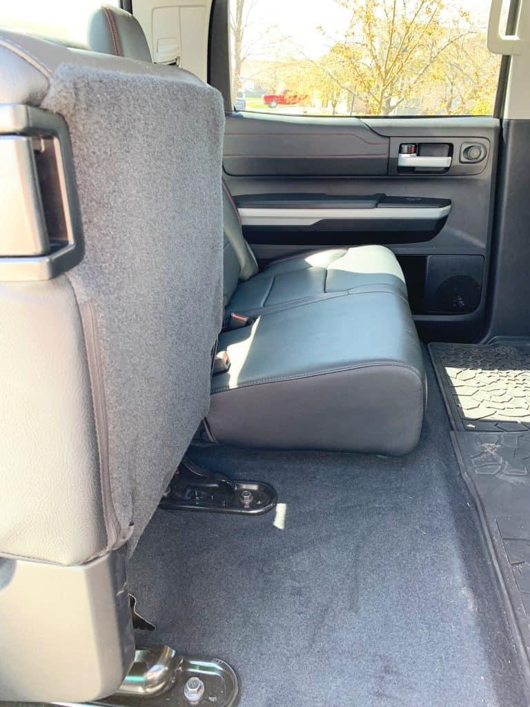 Fold Up rear seats in Toyota Tundra