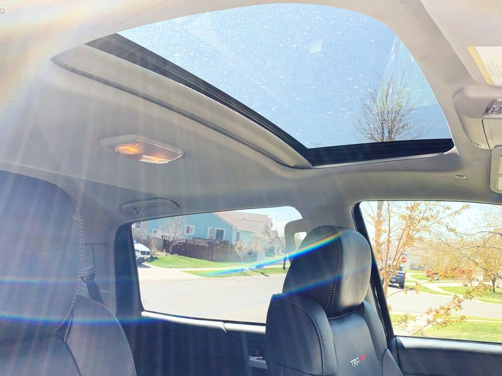 Sunroof in Toyota Tundra